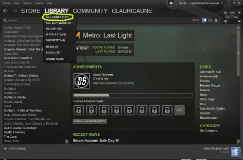 Mi biblioteca de Steam de año y medio. Es absurdo: nunca voy a tener tiempo de jugar todos esos juegos. Compro juegos compulsivamente solo porque los veo a menos de $10 dólares.